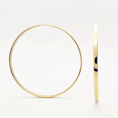 Žlté náušnice kruhy 65mm