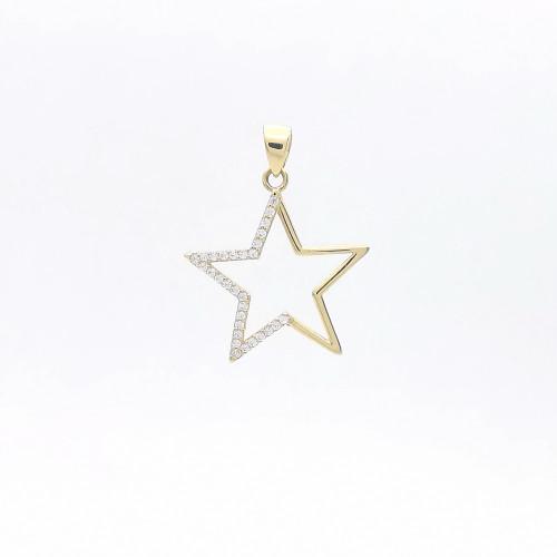 Zlatý prívesok hviezda