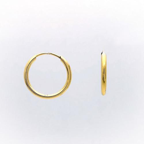 Žlté náušnice kruhy