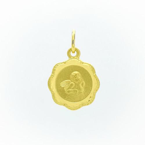 Zlatý prívesok platnička