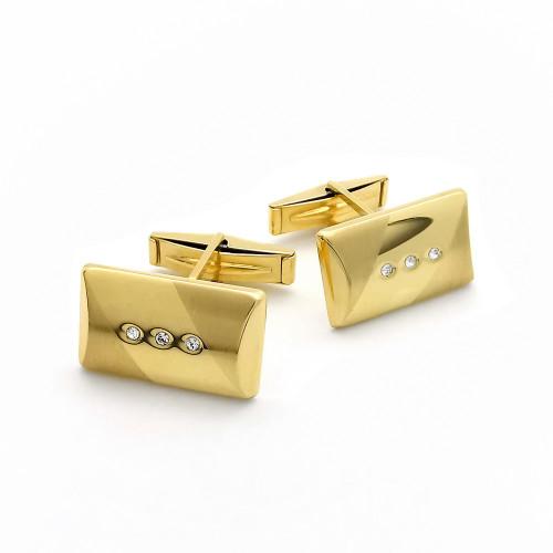 Zlaté manžetové gombíky