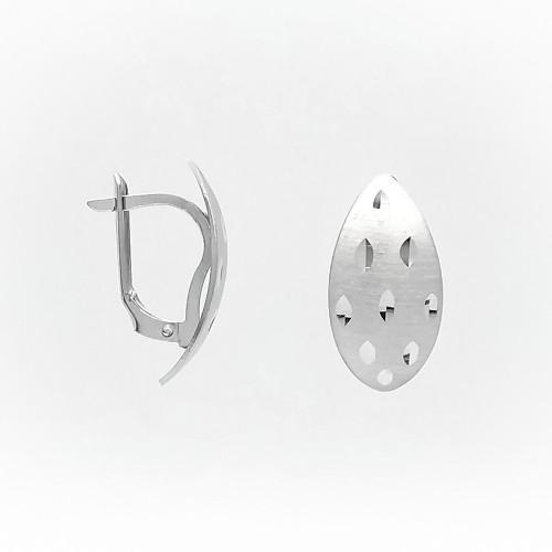 Strieborné náušnice bez kamienka